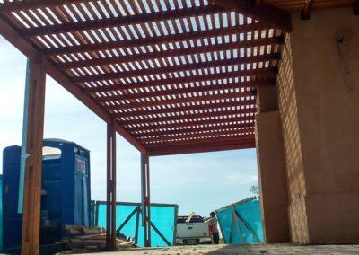 pergola de madera perimetral