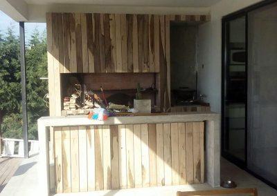 Revestimiento deck exterior en parrilla y barra